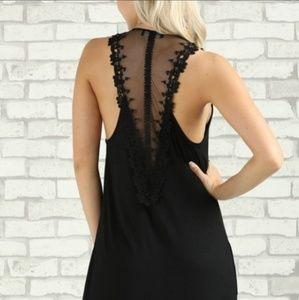 Black lace back maxi dress